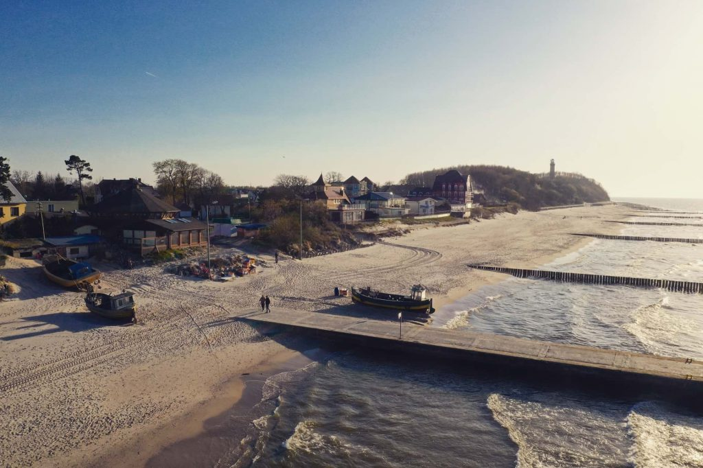 Niechorze plaża, falochrony
